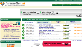 Screenshot internetten.nl
