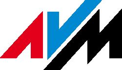 Het logo van AVM