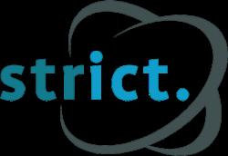 Het logo van Strict